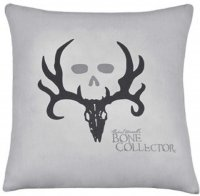 "Bone Collector Gray & Black Square Pillow - 20"" W X 20"" L"