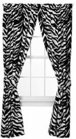 Black Zebra Stripe Panel Drapes