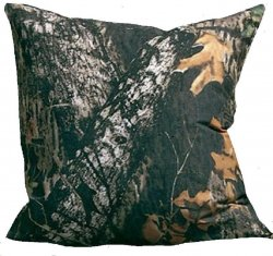 "Mossy Oak New Breakup Camo Pattern Square Pillow 18"" x 18"""