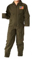 Kids Future Pilot Olive Drab Coverall / Flight Suit