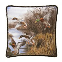 Duck Approach Square Pillow - Corded