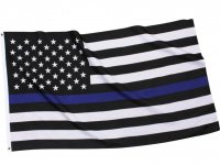US American Flag Thin Blue Line (Support the Police) Flag 3' x 5