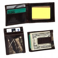 Men's True Timber Premium Leather Camo Front Pocket Wallet