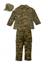 Kids USMC 3 pc Woodland Camo Replica Marine Corps Uniform Set