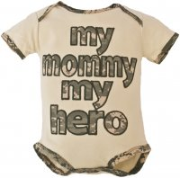 "United States Army ""My Mommy My Hero"" ACU Baby Bodysuit"