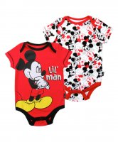 "Disney's Mickey Mouse Baby Boy ""Lil Man"" 2-pk. Red Bodysuit"