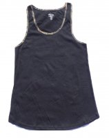 Women's Sleep Tank Top Black with Camo Accents 604850