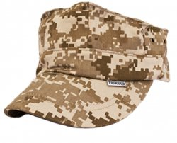 Kids Digital Desert Camo USMC 8 Point Cap