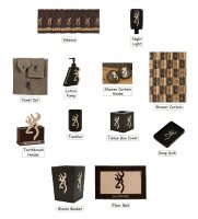 Browning Country Buckmark 25 Piece Bathroom Decor Set