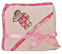 Plush Fleece Pink Camo Teddy Bear Soldier Baby Blanket
