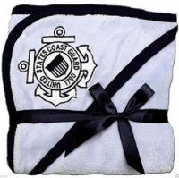 United States Coast Guard Logo Blue Fleece Baby Blanket