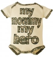 United States Air Force My Mommy My Hero Embroidered Bodysuit