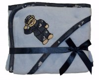 Plush Fleece Blue NWU Camo Teddy Bear Navy Sailor Baby Blanket