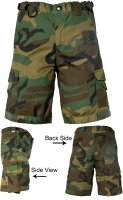 Kids Tactical Combat Shorts BDU Camo