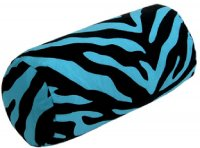 Black and Blue Zebra Stripe Neckroll Pillow