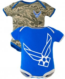 United States Air Force ABU Camo Baby Bodysuits 2 pk Blue