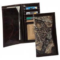 Men's True Timber Camo Leather Pocket-Secretary Wallet