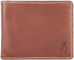 Browning Bi-Fold Leather Wallet with Buckmark