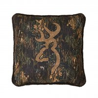 "Browning Buckmark 3D Design Square Pillow 18"" x 18"""