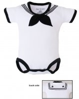 United States Navy Baby Sailor Bodysuit White