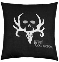 "Bone Collector Black & Gray Square Pillow - 20"" W X 20"" L"