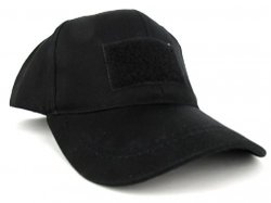 Kids 6 Panel Tactical Cap Stealth Black
