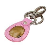 Leather Key Ring with Swivel Clip Pink and Mossy Oak Camo