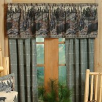 Blue Ridge Trading The Bears Rod Pocket Curtains