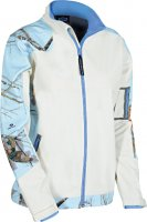 Yukon Gear Women's Windproof Softshell Jacket with Sky Blue Camo