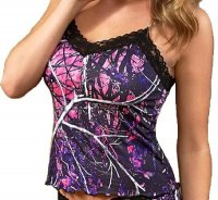 Wilderness Muddy Girl Camo Camisole with Black Lace 601159