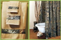 Mossy Oak New Breakup Camo Shower Curtain & Towel Set