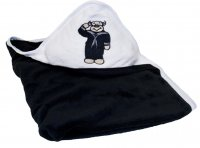 US Navy Black and White Plush Fleece Baby Blanket