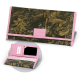 Women's Premium Leather Camo Clutch Wallet with Pink Accents