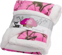"Baby Blanket Girls Hot Pink Camo 30"" x 42"""