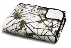 60'' x 80'' Snow Forest Camo Reversible Plush Throw Blanket