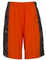 Men's 4 Way Stretch Camo & Blaze Orange Active Running Shorts