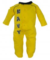 U.S. Navy NWU Camo Print Baby Crawler Yellow Sleeper