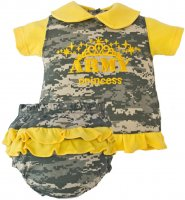"US Army 2 piece ""Army Princess"" Dress Yellow & ACU Digital Camo"