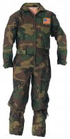 Kids Future Pilot Woodlands Camo Coverall / Flight Suit