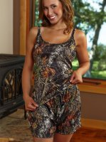 Women's Mossy Oak Breakup Camo Lounge Tank Top & Shorts Set