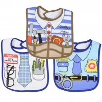Little Beginnings 3-Pk Boys Themed Dress Up Large Bibs