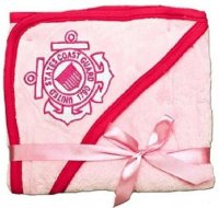United States Coast Guard Logo Pink Fleece Baby Blanket