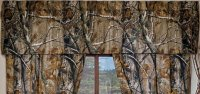 Realtree AP Green Camo Pattern Window Valance
