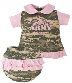 "US Army 2 piece ""Army Princess"" Dress Pink & ACU Digital Camo"