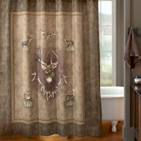 "Whitetail Ridge Deer Shower Curtain 72"" x 72"""