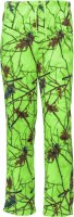 Womens Fleece Lounge Pajama Bottoms Lime Green Camo