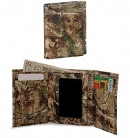 Premium Leather Realtree AP Camo Tri-fold Wallet