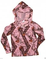 Wilderness 605935 Womens Pink Mossy Oak Break-Up Hoodie