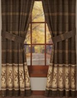 Browning Buckmark Brown & Tan Curtains