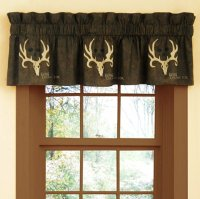 Bone CollectorTM By Michael Waddell Window Valance Brown & Tan